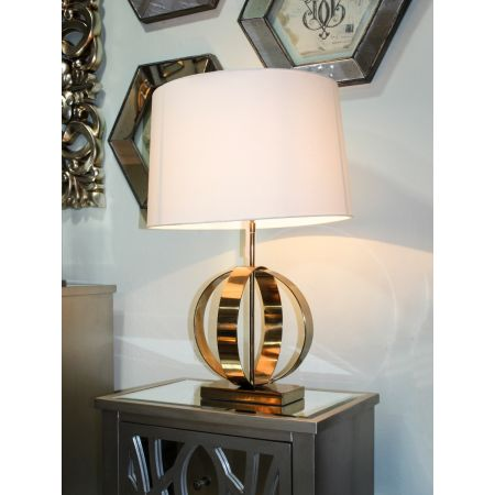 Gold Luna Table Lamp- Cream