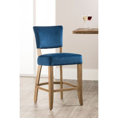Bourton Bar Stool- Royal Blue Velvet