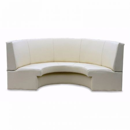 Curved Individual Stitched Seating With Upholstered Kicker