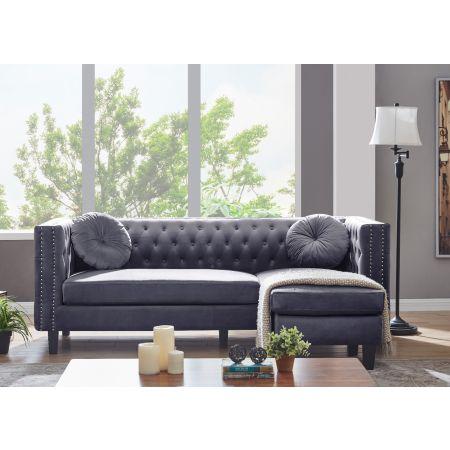 Washington Corner Suite-Grey Velvet