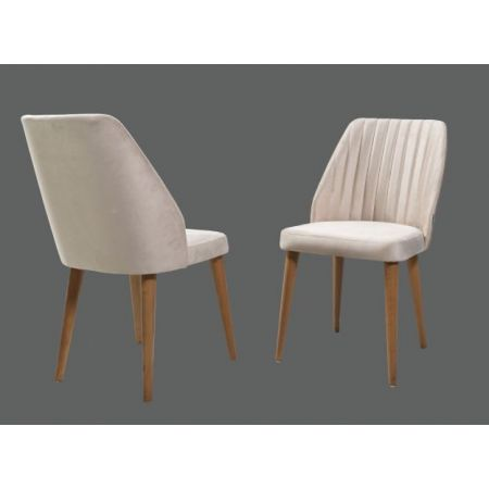 Hazal Chair - Grey/Walnut (Set of 2)*PRICE TBC