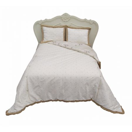 Double Bed Spread (Gold Ivory)
