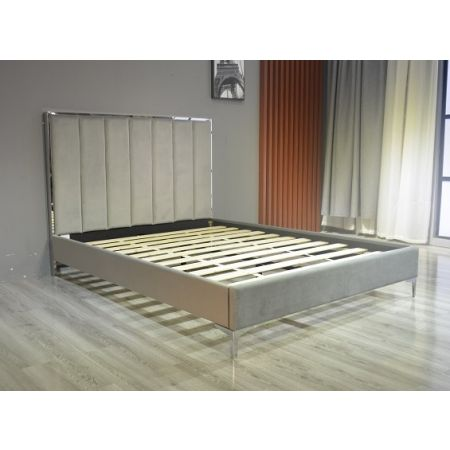 Broadway Bed- Grey-Double