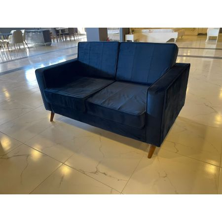 Cara 2 Seater Sofa - Navy Blue  *PRICE TBC