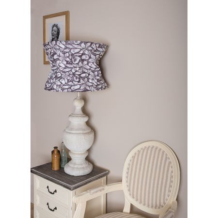 Oversized Antique White Lamp