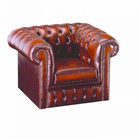 Chesterfield Leather Tub Chair