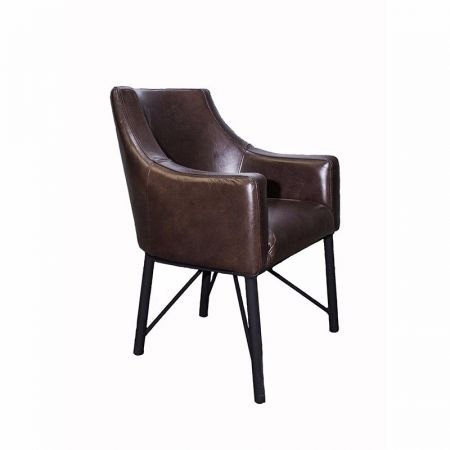 George Armchair With Metal Legs