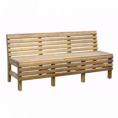Iroko Slatted Bench