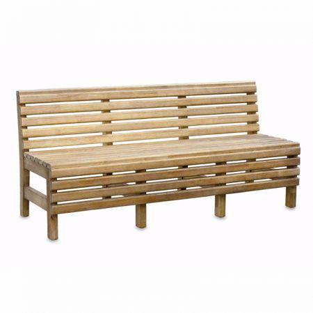 Iroko Slatted Bench
