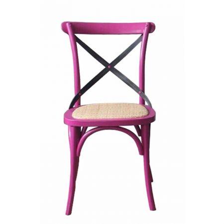 Metal Crossback Chair