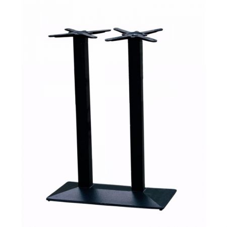 High Double Pedestal Rectangular Pyramid Base All Black