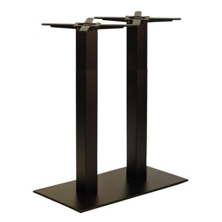 High Rectangular Double Pedestal Lama All Black Poseur