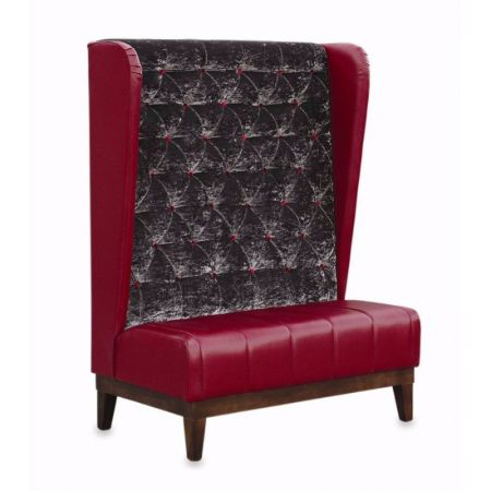 Tall Wingback Seating With Diamond Stitched Button Detail