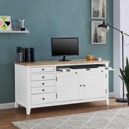 Fulton Hidden Home Office Desk-White