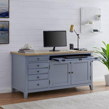 Fulton Hidden Home Office Desk-Grey