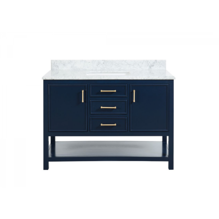 2/3 Double Vanity Unit/White Marble-Navy