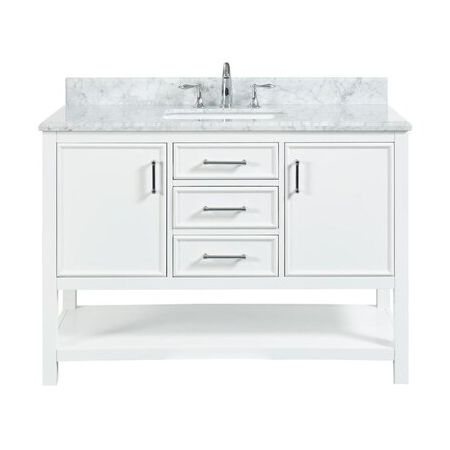 2/3 Double Vanity Unit/White Marble-White