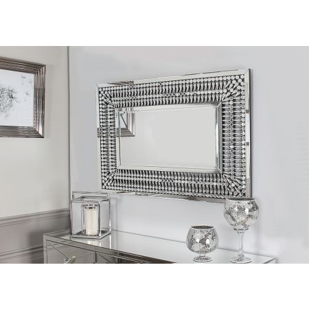 Crystal Rectangular Mirror