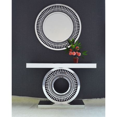 Crystal Mirrored Console & Mirror