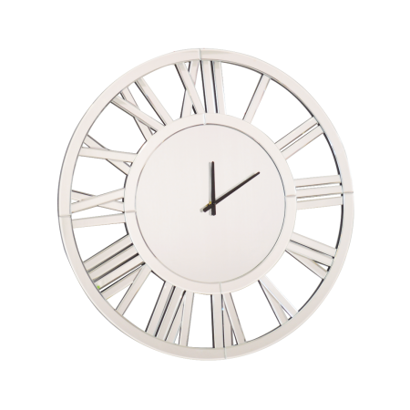 Mirrored Round Wall Clock