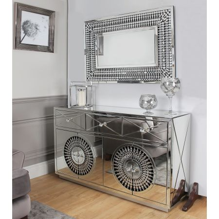 Crystal Sideboard + Rectangular Mirror