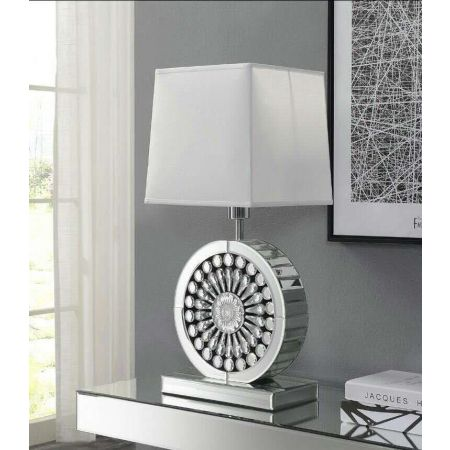 Crystal Table Lamp- White
