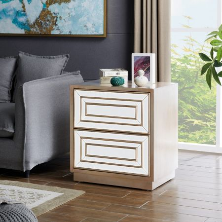 Lisbon 2 Drawer End Table