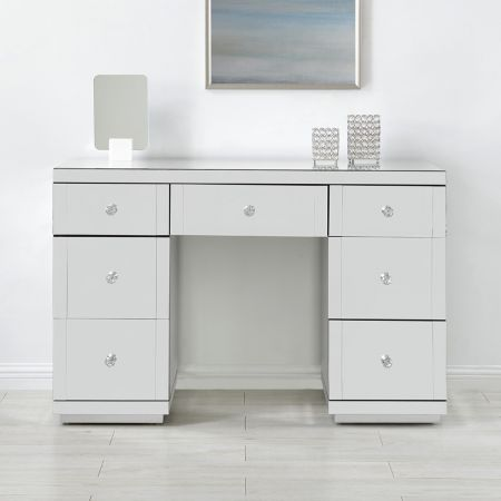 Hollywood Mirrored 7 Drawer Dressing Table