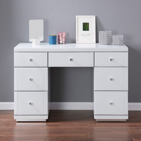 Hollywood White 7 Drawer Dressing Table