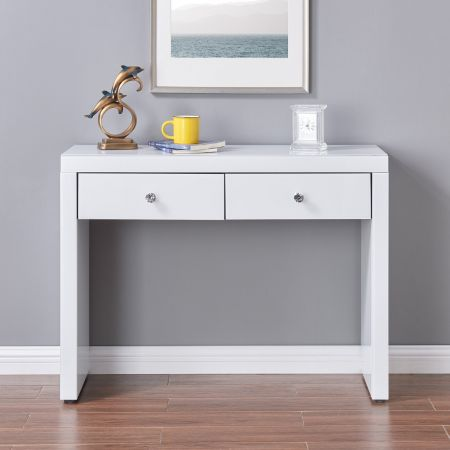 Hollywood White 2 Drawer Console Table
