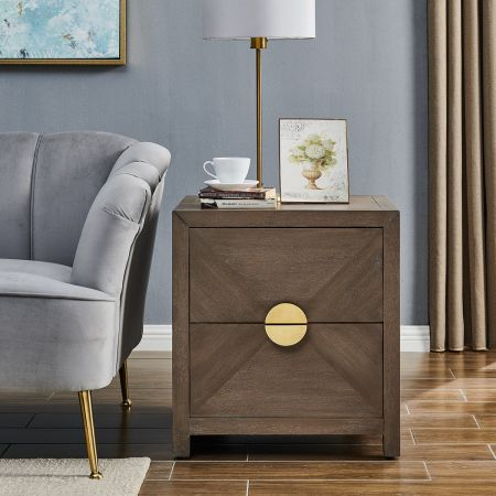 Valencia 2 drawer side table