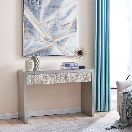 Frenso Console Table-Silver