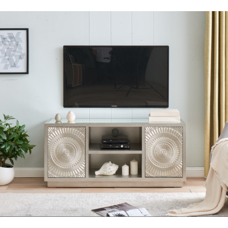 Frenso TV Unit-Silver