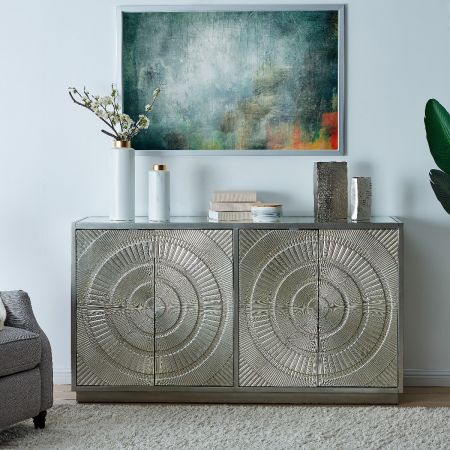 Frenso 4 Door Sideboard Silver