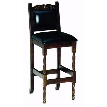 High Tudor Carvedback Stool