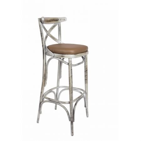 High Bentwood Crossback Stool