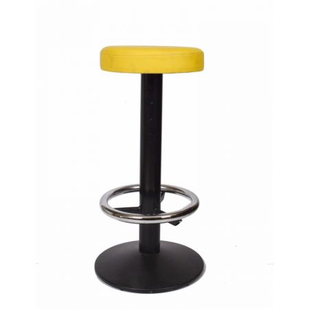 High Black Cruz Stool