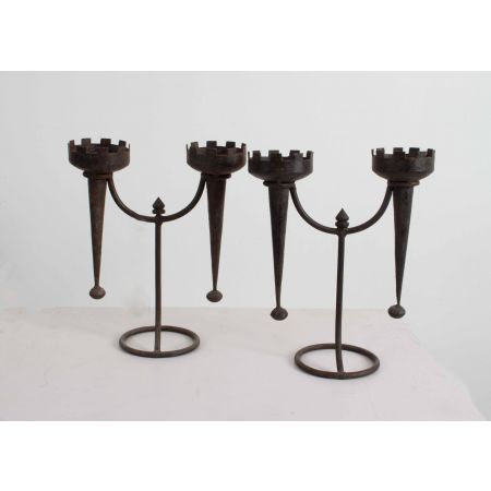 Medieval themed candlesticks