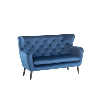 Yak 2 Seater Sofa - Royal Blue - Velvet