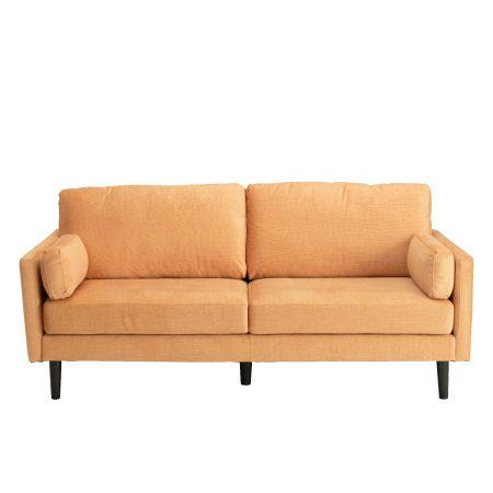 Teddy 3 Seater Sofa - Rust Orange