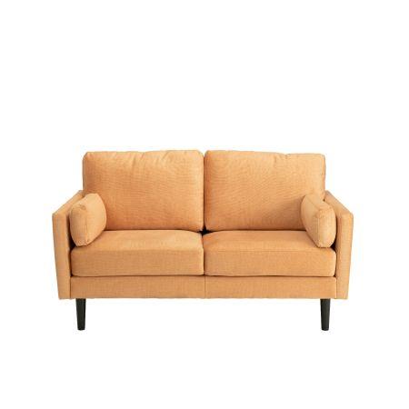 Teddy 2 Seater Sofa - Rust Orange