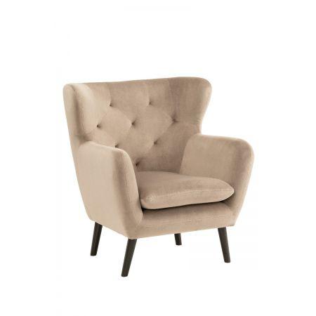 Yak Armchair - Mink - Velvet