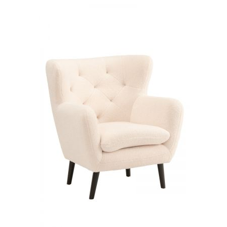 Yak Armchair - Short Fux Sheepskin - White