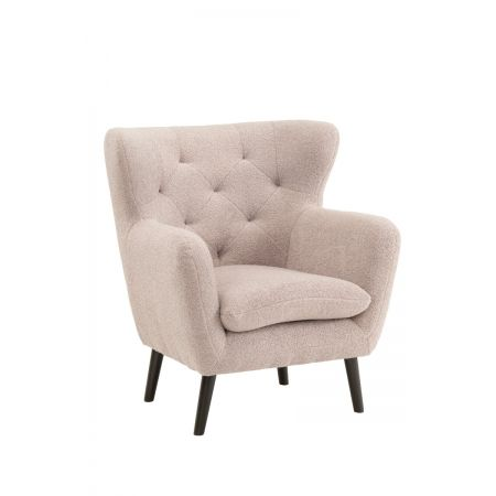Yak Armchair - Short Fux Sheepskin - Grey