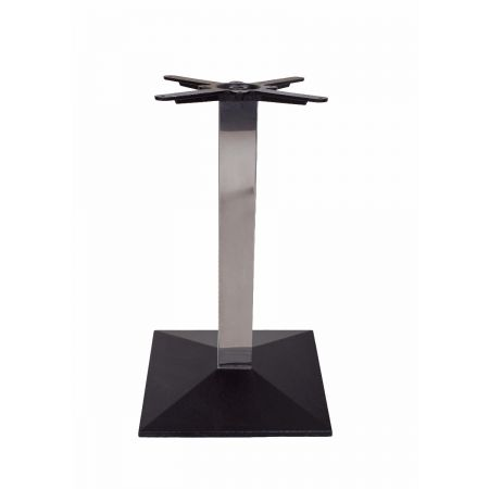 Square Pyramid Black Base Chrome Column