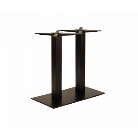 Rectangular Double Pedestal Lama All Black