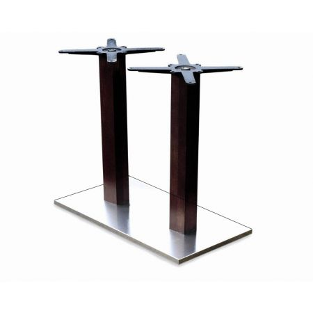 Rectangular Double Pedestal Lama St/Steel Base Timber Column