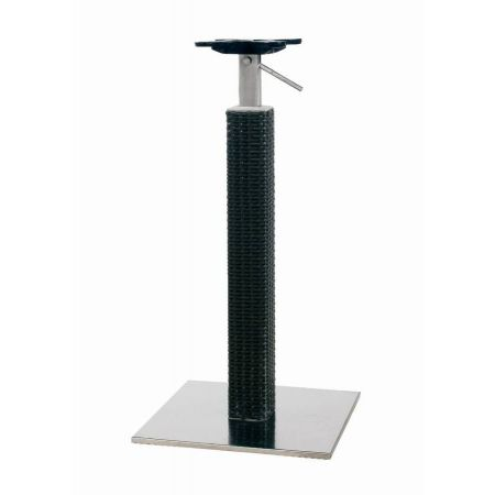 Adjustable Table Table Wicker Column Base