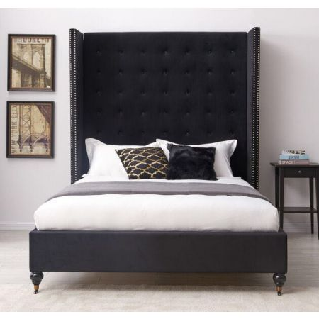 Melrose Black Double Bed