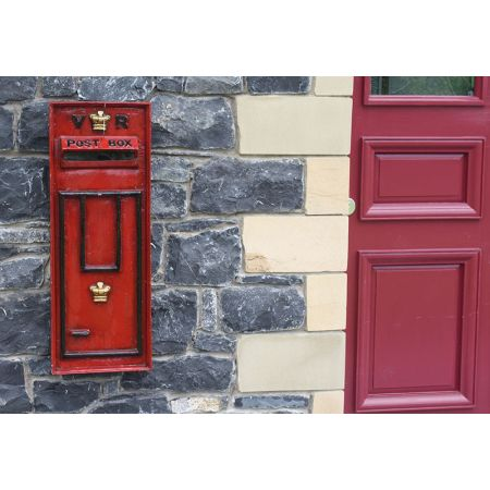 English Post Box Front